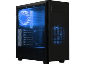 APEVIA X-HARMONY-BL Black / Blue SECC Black Metal Chassis, ABS Plastic Front Panel ATX Mid Tower Computer Case
