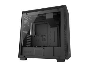 NZXT H700i Mid Tower Chassis with 3x120mm, 1x140mm and LED strips, Matte Black/Black with Smart Device, Cable Management System and Tempered Glass