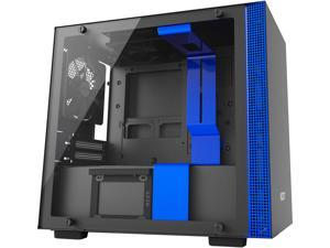 NZXT H200i ITX Tower Chassis Black/Blue Version with 2x120mm, Smart device, 1 LED strip, Cable management system and Tempered Glass