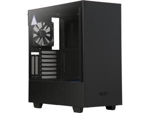NZXT H500i CA-H500W-BL Matte Black/Blue SECC Steel and Tempered Glass ATX Mid Tower Computer Case
