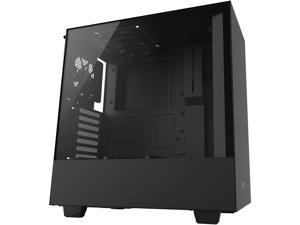 NZXT H500 - Compact ATX Mid-Tower PC Gaming Case - Tempered Glass Panel - All-Steel Construction - Enhanced Cable Management System - Water-Cooling Ready - Black