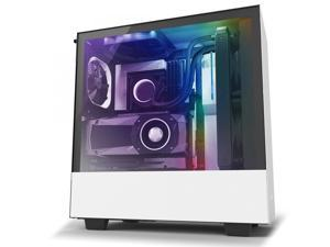 NZXT H510i - Compact ATX Mid -Tower PC Gaming Case - Front I/O USB Type-C Port - Vertical GPU Mount - Tempered Glass Side Panel - Integrated RGB Lighting - Water-Cooling Ready - White/Black