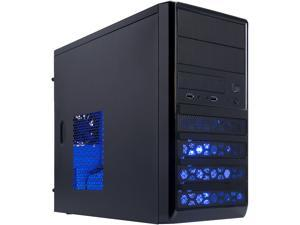 Rosewill - Dual-Fan Micro ATX Mini Tower Computer Case with Blue LED Lighting - RANGER-M