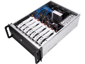 Rosewill RSV-L4000C - 4U Rackmount Server Case / Chassis for Bitcoin Mining Machine, Supports 6~8 Graphic Cards
