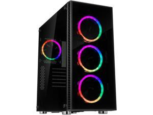 Rosewill ATX Mid Tower Gaming PC Computer Case with Dual Ring RGB LED Fans, 360mm Water Cooling Radiator Support, Tempered Glass and Steel, USB 3.0 - CULLINAN V500 RGB