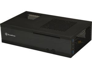 SILVERSTONE Milo series ML05B Black Acrylic Front Panel, 0.8mm SECC body Mini-ITX Media Center / HTPC Case