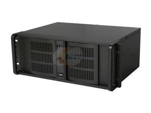 iStarUSA D-400S3 Black Zinc-Coated Steel 4U Rackmount Ultra Compact Chassis