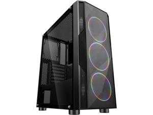 SAMA Sama-3D Black Steel / Tempered Glass ATX Mid Tower Computer Case
