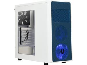 BitFenix Neos Window BFC-NEO-100-WWWKB-RP White / Blue Steel / Plastic ATX Mid Tower Computer Case