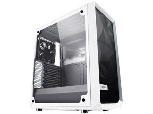 Fractal Design Meshify C White - TG FD-CA-MESH-C-WT-TGC White Steel / Tempered Glass ATX Mid Tower High-Airflow Compact Clear Tempered Glass Computer Case