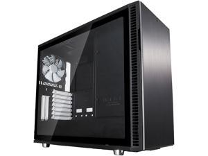 Fractal Design Define R6 USB-C Black Brushed Aluminum/Steel ATX Silent Modular Tempered Glass Window Mid Tower Computer Case