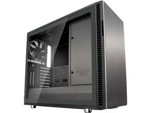 Fractal Design Define R6 USB-C Gunmetal Brushed Aluminum/Steel ATX Silent Modular Tempered Glass Window Mid Tower Computer Case