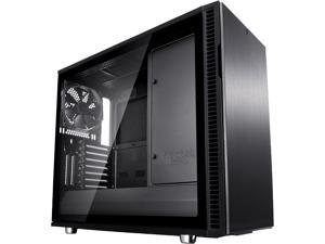 Fractal Design Define R6 USB-C Blackout Brushed Aluminum/Steel ATX Silent Modular Tempered Glass Window Mid Tower Computer Case