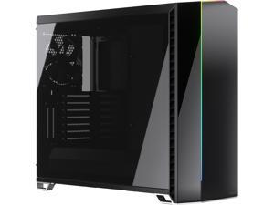 Fractal Design Vector RS Blackout ATX Silent Modular Dark Tint Tempered Glass Window Mid Tower Computer Case with ARGB LED strip and Adjust R1 RGB Controller