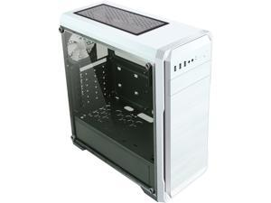 DIYPC DIY-A1-W White Tempered Glass USB 3.0 ATX Mid Tower Computer Case with 1 x 120mm White Fan x Rear Pre-installed