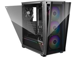 DEEPCOOL MATREXX 70 ADD-RGB 3F Mid-Tower Case 3x120mm ADD-RGB Fans Modular design Full-size Tempered Glass GPU Vertical Installation Quick Open Panels