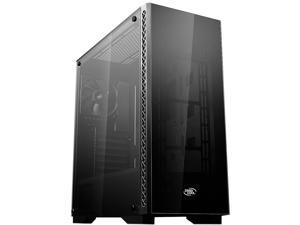 DEEPCOOL MATREXX 50 Mid-Tower Case Tempered Glass Side And Front Panel With PSU Shroud Large Air-intake