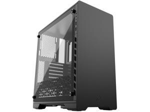 Metallic Gear Neo Series MG-NE510_BK01 Black Sandblasted Aluminum, Steel Chassis, Tempered Glass ATX Mid Tower Computer Case