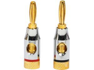 Coboc BA-OPENSCREW-1P High-Quality Copper Speaker Banana Plug w/ Color Coded, Open Screw Type,1 Pair Per Package