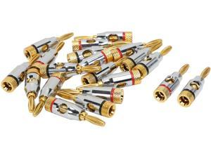 Coboc BA-OPENSCREW-10P High-Quality Copper Speaker Banana Plug w/ Color Coded, Open Screw Type,10 Pair Per Package