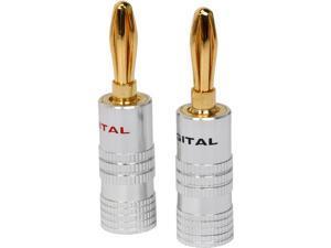 Coboc BA-SETSCREW-1P High-Quality Copper Speaker Banana Plug,Set Screw Type,1 Pair Per Package)