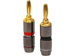 Coboc BA-CLOSESCREW-1P High-Quality Copper Speaker Banana Plug,Close Screw Type,1 Pair Per Package