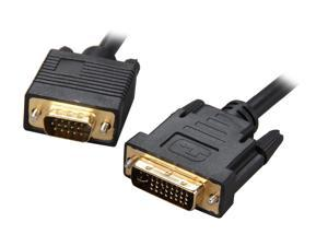 Rosewill RCDV-11006 - Black, 6-Foot DVI-I Male to VGA Male Cable