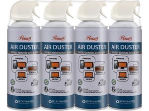 Rosewill Compressed Air Duster, 10 oz Gas Duster Cleaning Spray for Electronics (4-Pack) RCGD-18004