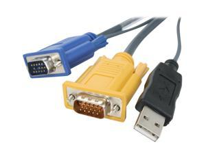 TRIPP LITE 6 ft. USB (2-in-1) Cable Kit for NetDirector KVM Switch B020-Series and KVM B022-Series, 6-ft. P776-006