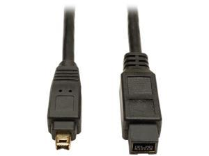 Tripp Lite F019-006 6 ft. IEEE-1394b FireWire 800 Gold Hi-Speed 9pin/4pin Cable Male to Male