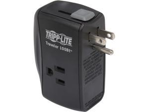 TRIPP LITE TRAVELER100BT 6 ft phone cable 2 Outlets 1050 joule Direct Plug-in Surge Suppressor