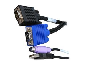 TRIPP LITE 6 ft. PS/2 & USB (2-in-1) KVM Cable Kit for B042-Series KVM Switch P780-006