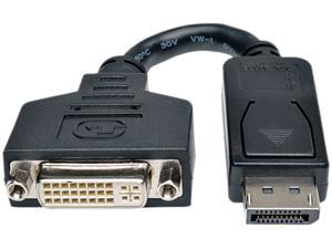 Tripp Lite DisplayPort to DVI Cable Adapter, Converter for DP to DVI-I M/F (P134-000)
