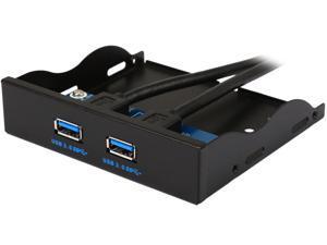 "Coboc 3.5FP-U3-20PSPL2 Dual Ports USB 3.0 to 20pin Header 3.5"" Floppy Bay Internal Bracket Front Panel  - 3.5""tray USB 3.0 20pin to 2 Ports Type A Female"