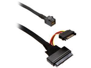 SYBA Model SI-CAB40120 1.64 ft. U.2 (SFF-8639) NVMe PCIe to Mini SAS (SFF-8643) SSD Cable