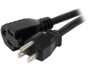 C2G 29930 16 AWG Outlet Saver Power Extension Cord (NEMA 5-15P to NEMA 5-15R) TAA Compliant, Black (4 Feet, 1.22 Meters)