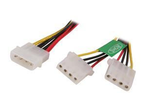 Athena Power CABLE-YPHD 8 in. Molex Y Splitter Power Cable Male to Female