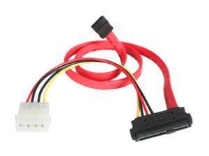 """StarTech Model SAS729PW18 18"""" SAS 29 Pin to SATA Cable with LP4 Power"""