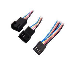"""StarTech FAN4SPLIT12 12"""" 4 Pin Fan Power Splitter Cable - F/M Female to Male"""