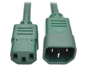 Tripp Lite Model P004-003-AGN 3 ft. Standard Computer Power Extension Cord, 10A, 18 AWG (IEC-320-C14 to IEC-320-C13) Male to Female