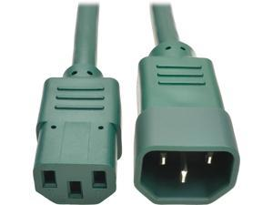 Tripp Lite Model P004-006-AGN 6 ft. Standard Computer Power Extension Cord, 10A, 18 AWG (IEC-320-C14 to IEC-320-C13) Male to Female