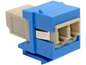 Tripp Lite Duplex Multimode Fiber Coupler Keystone Jack LC to LC Blue (N455-000-BL-KJ)