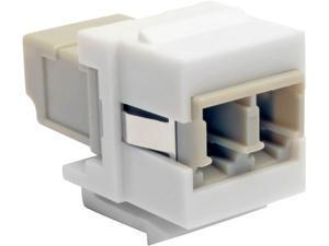 Tripp Lite Duplex Multimode Fiber Coupler Keystone Jack LC to LC White (N455-000-WH-KJ)