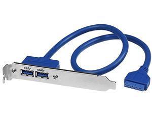 StarTech.com USB3SPLATE 2 Port USB 3.0 A Female Slot Plate Adapter