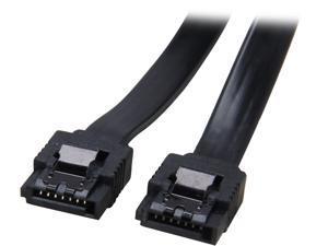 "Coboc Model SC-SATA3-18-LL-BK 18"" SATA III 6Gb/s Data Cable w/Latch,Black"