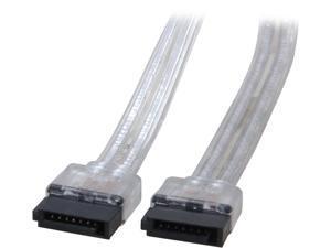 """Coboc Model SC-SATA3-18-SL 18"""" SATA III 6Gb/s Data Cable,Silver"""