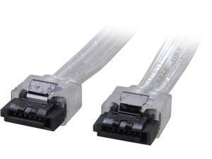 """Coboc Model SC-SATA3-18-LL-SL 18"""" SATA III 6Gb/s Data Cable w/Latch,Silver"""