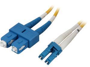 Coboc CY-OS1-LC/SC-3 9.84 ft. Yellow Singlemode 9/125 Duplex LSZH Fiber Patch Cable LC - SC,M-M