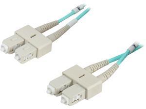 Coboc CY-OM3-SC/SC-5 16.4 ft. 10Gb Aqua Multimode 50/125 Duplex LSZH Fiber Patch Cable SC - SC,M-M