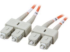 Coboc CY-OM1-SC/SC-15 49.21 ft. Orange Multimode 62.5/125 Duplex LSZH Fiber Patch Cable SC - SC,M-M